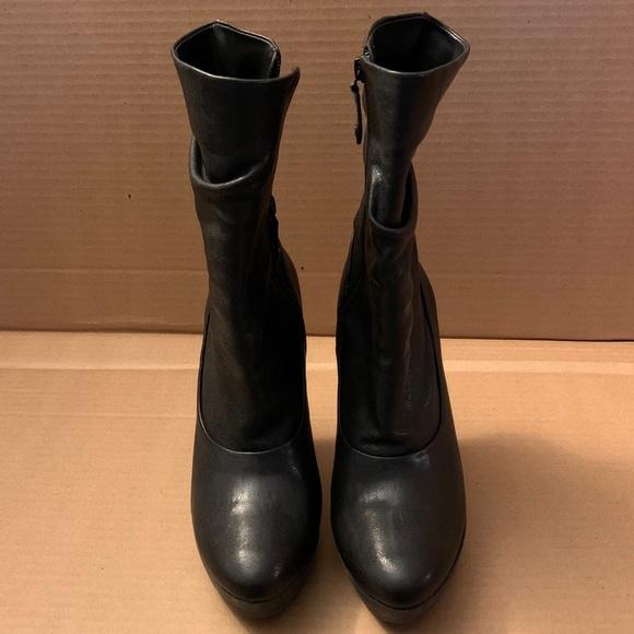BCBGMaxAzria Shoes - Black Wedge Boot